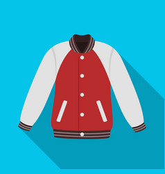 Uniform baseball jacket baseball single icon in vector