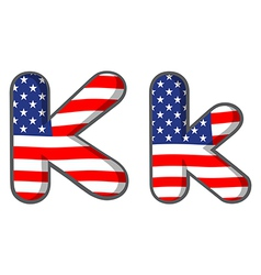 united states letter of the alphabet vector image