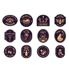 Variety classic coffee badge design vector