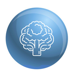 vegan broccoli icon outline style vector image