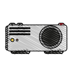 video beam icon image vector image