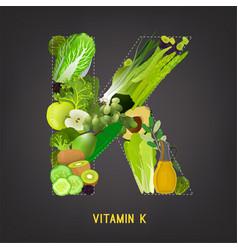 Vitamin k in food vector