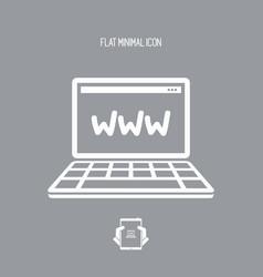 web connection - flat minimal icon vector image