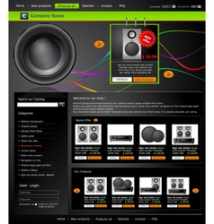 Web site is an online store vector