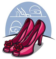 women shoe vector image
