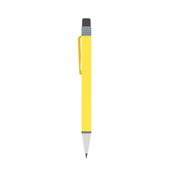 yellow pen flat design isolated on white vector image