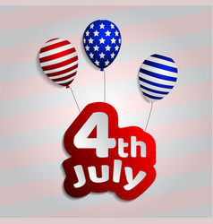 4th of july background postcard usa independence vector image vector image
