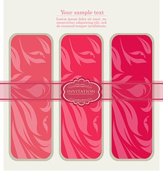 Floral pink tags for template vector image