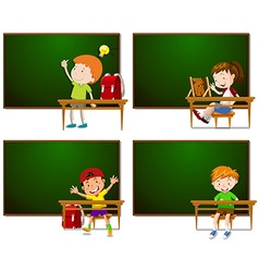 Frames with boys and girls vector image