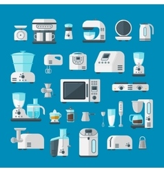 Home electronics appliances elements infographics vector image