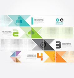 Modern design minimal style infographic paper vector