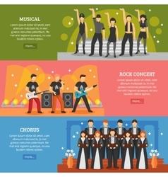 Popular Music Horizontal Banners vector image
