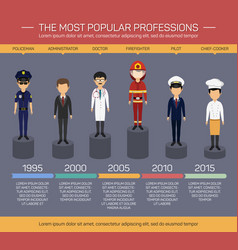 workers employee and profession infographics vector image vector image