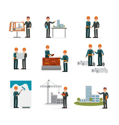 construction ser engineering industrial workers vector image vector image