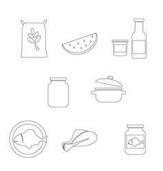 Farming food and agriculture icon vector