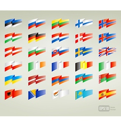flags set europe vector image