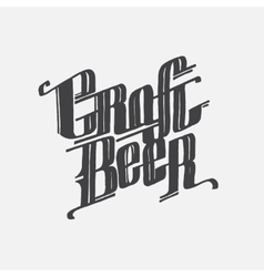 Hand drawn lettering craft beer text vector image