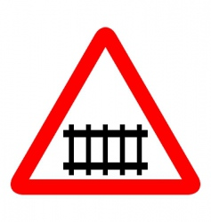 illustration of road sign railroad vector image vector image