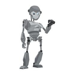 robot monkey vector image