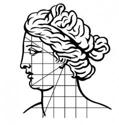 Venus profile vector image vector image