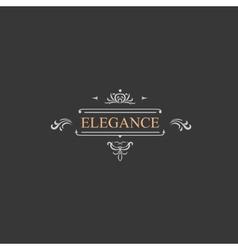 Vintage retro label and luxury logo restaurant vector image
