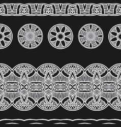 white line black background ethnic mexical peru vector image vector image