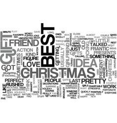best gift idea text word cloud concept vector image vector image