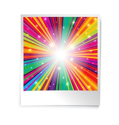 Instant blank photo template with rainbow vector image