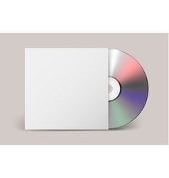 Realistic cdwith cover icon Design vector image