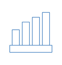 Silhouette statistic bar to financial graphics vector