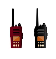 Walkie talkie and police radio or radio vector image