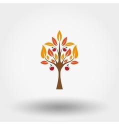Autumn apple tree vector image