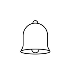 Bell line icon education and school element vector