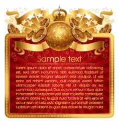 gold musical frame vector image