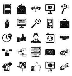 interplay icons set simple style vector image