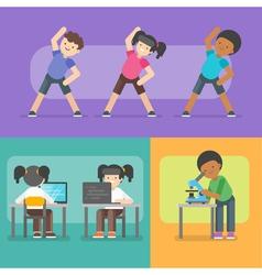 kids activities at school vector image vector image