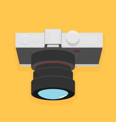 photo camera icon flat design vector image vector image