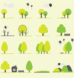 0708 Trees icon vector