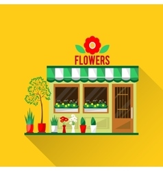 A flowers shop vector
