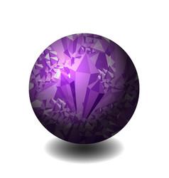 Amethyst ball of stone precious stone gemstone vector