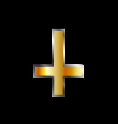 An inverted cross- the cross of saint peter vector