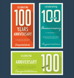 Anniversasry background 100 years vector