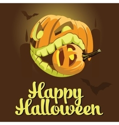 background Halloween style with pumpkins vector image
