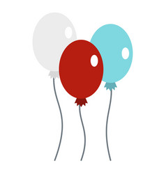 balloons icon isolated vector image