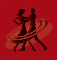 ballroom dancing couple vector image