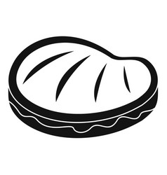 bbq steak icon simple style vector image