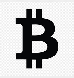 Bitcoin sign currency vector