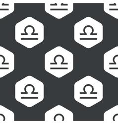 Black hexagon Libra pattern vector