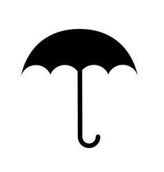 black icon umbrella cartoon vector image