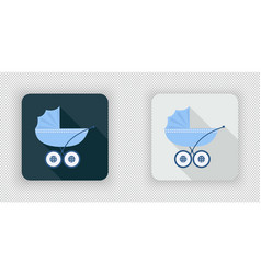 blue baby carriage for newborn baby icon vector image
